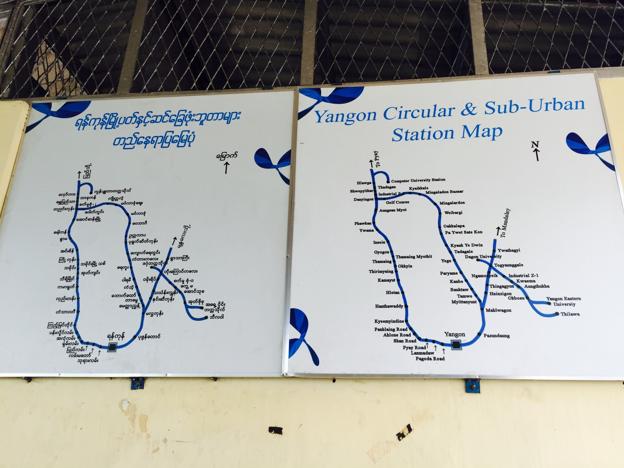 Yangon Circular Train Route