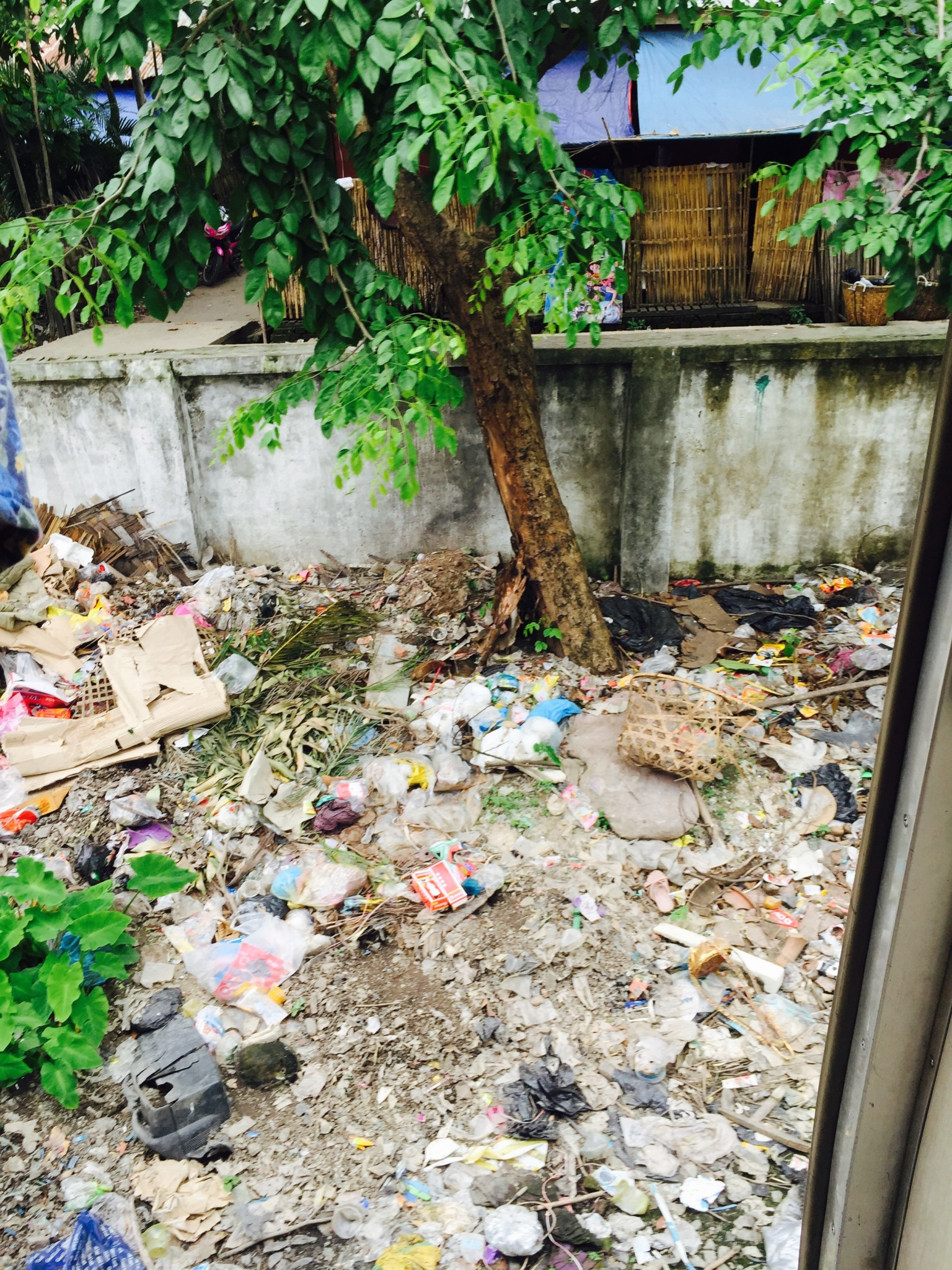 Rubbish behind Yangon house
