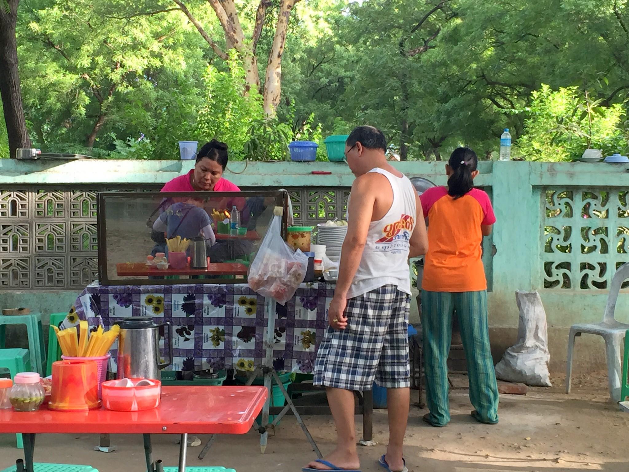 Roadside Stall selling Shan noodles